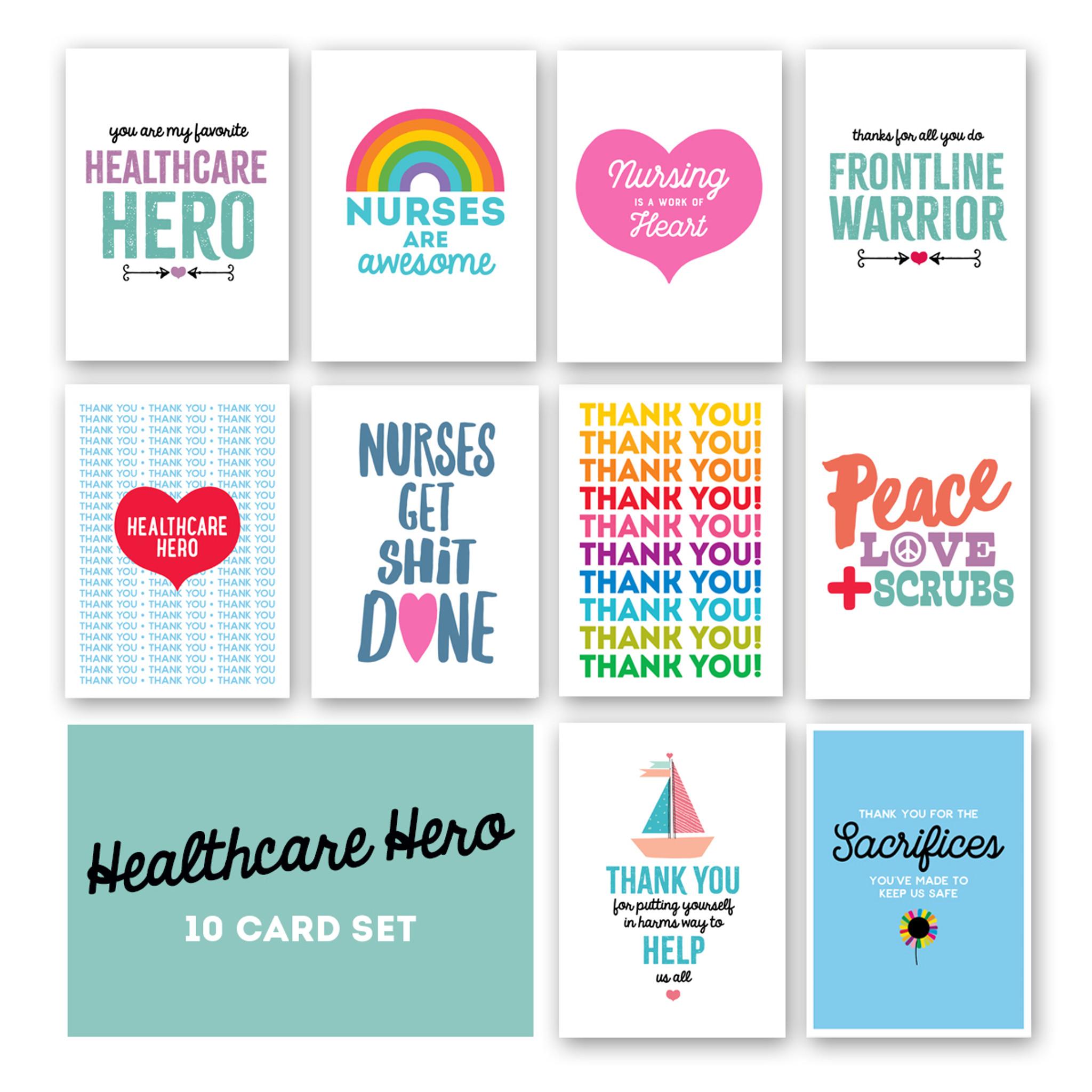 Healthcare Hero 10 card set