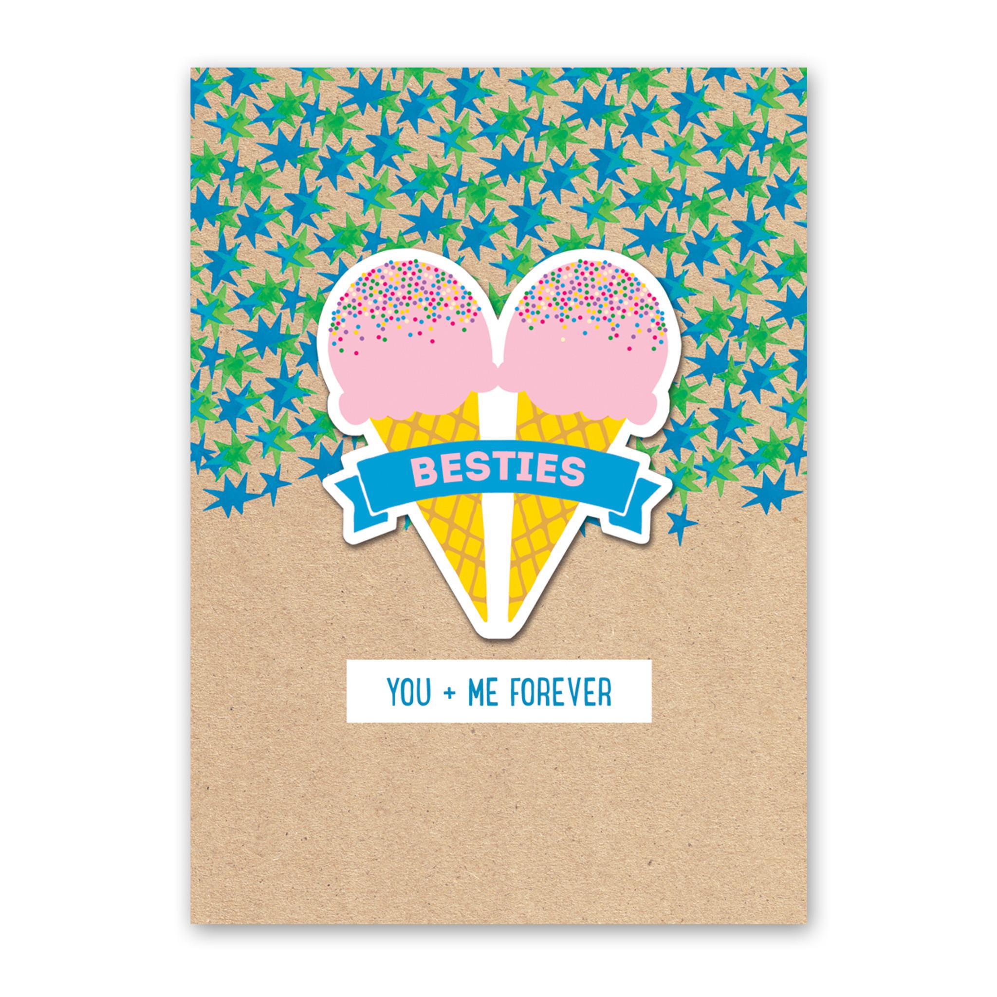 Besties Sticker Card