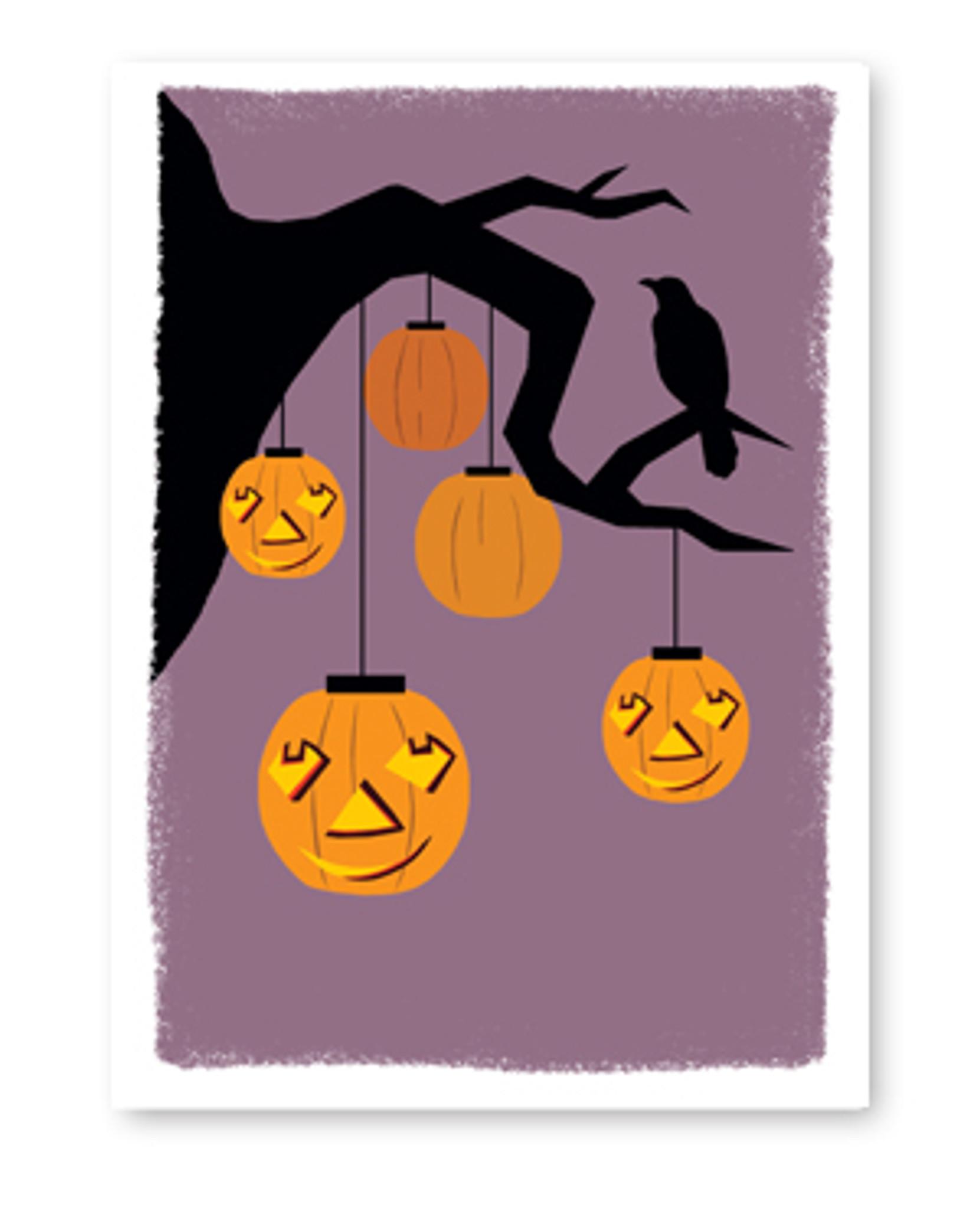 Haunted Tree Halloween Card
