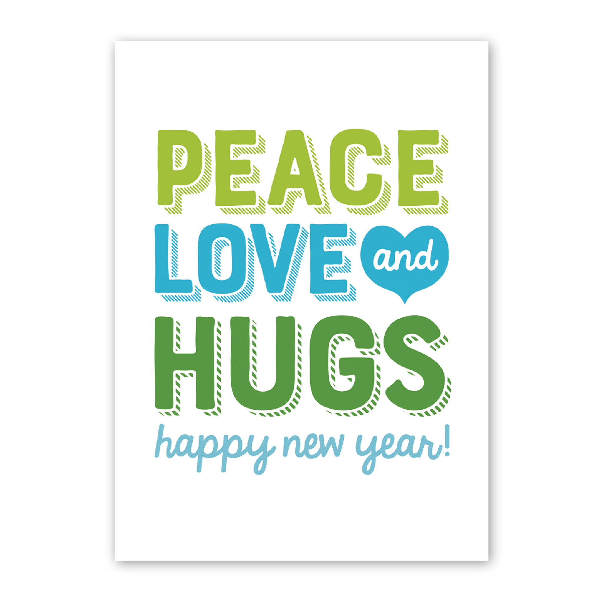 Peace Love & Hugs Boxed Holiday Cards
