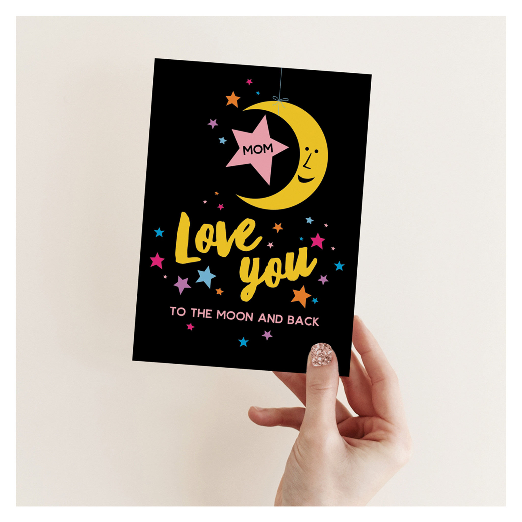 Mom Moon Mother's Day Card