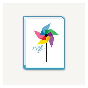 Pinwheel Thank You Cards
