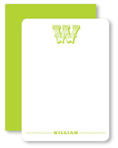 Circus Initial Personalized Stationery