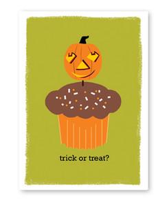 Trick or Treat Cupcake Card
