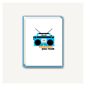 Boom Box Thank You Cards