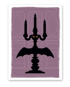 Candelabra Halloween Card