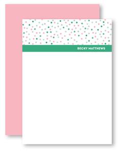 Confetti Dots Personalized Stationery