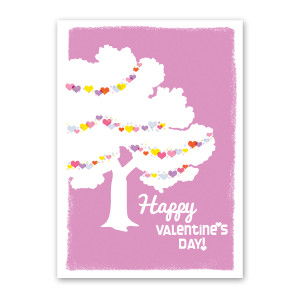 Loving Tree Valentine's Day Card