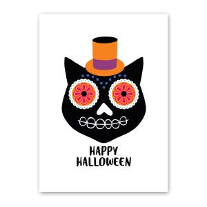 Day of the Dead Cat Halloween Car by Rock Scissor Paper