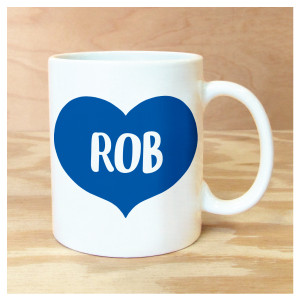 Big Heart Personalized Mug