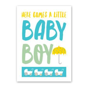Baby Boy Shower Card by Rock Scissor Paper