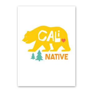 Cali Bear Note Card