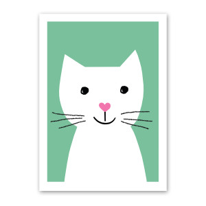 Happy Cat Note Card