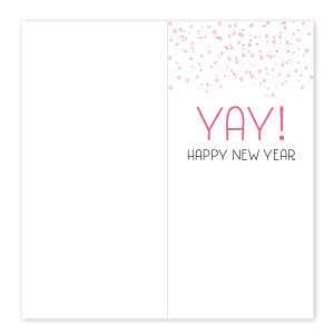 Champagne Happy New Year Card