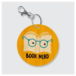 Book Nerd Keychain by Rock Scissor Paper