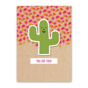 Happy Cactus Sticker Card