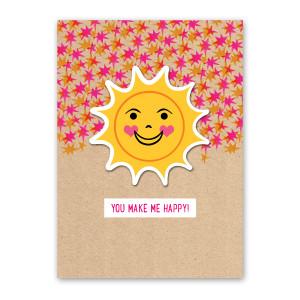 Sun Sticker Card