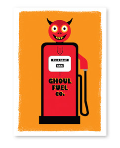 Ghoul Fuel Halloween Card