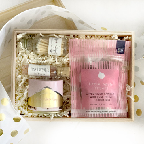 Small Pink Candle Box