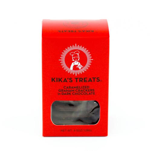 Kika's Dark Chocolate Covered Graham Crackers