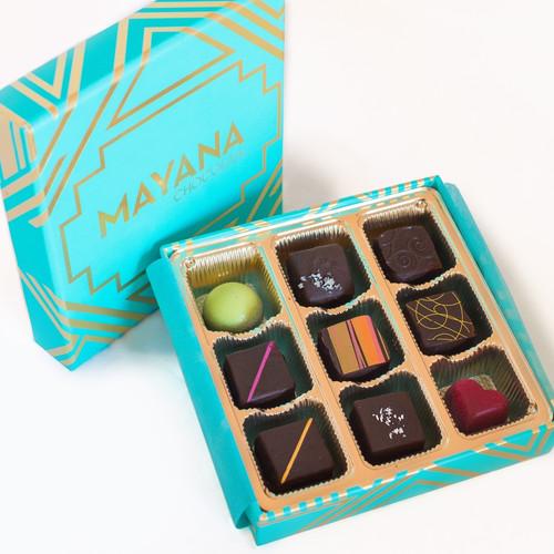 Mayana 9- Piece chocolate truffle box