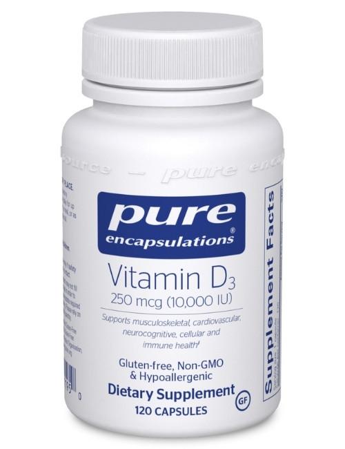 Vitamin D3 10,000 IU, 120 vcaps