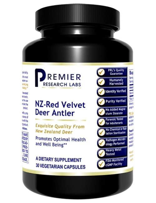 NZ-Red Velvet Deer Antler, 30 Vcaps