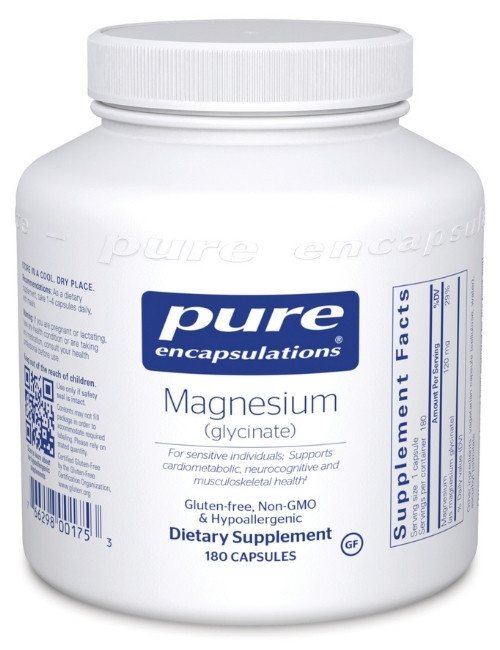 Magnesium Glycinate 120 mg, 180 Vcaps
