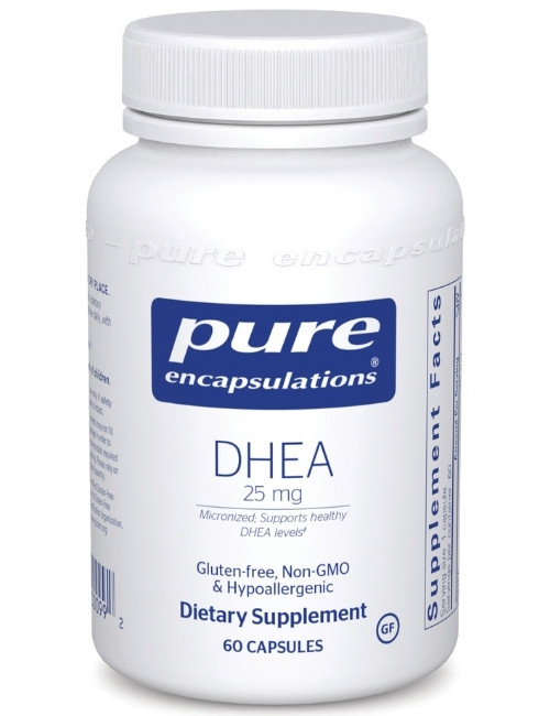 DHEA (micronized) 25 mg, 60 Vcaps
