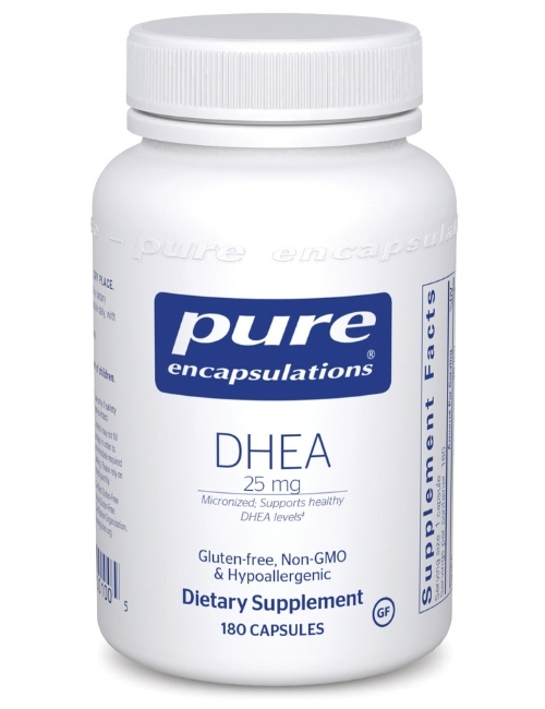 DHEA (micronized) 25 mg, 180 Vcaps