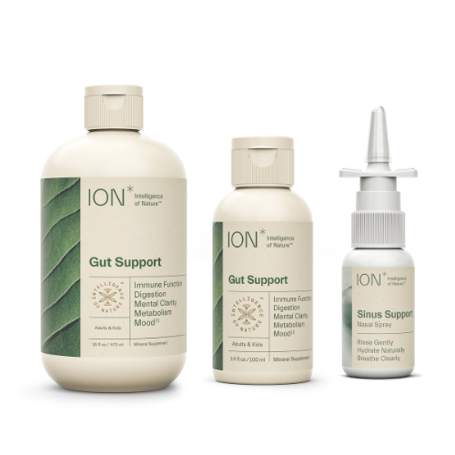 ION*Biome Complete Pack, Includes 32 oz Bottle, Travel Size 3 oz Bottle, and 1 oz Sinus Spray