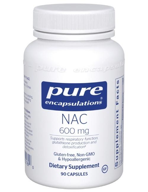NAC (N-Acetyl-l-Cysteine) 600 mg, 90 Vcaps