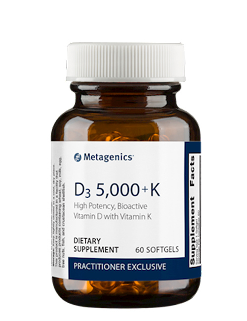 D3 5,000 + K 60 softgels