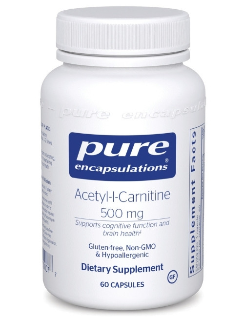 Acetyl-L-Carnitine 500 mg, 60 vcaps