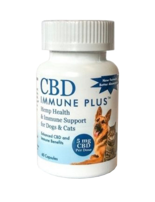 CBD Immune Plus™ for Dogs & Cats, 60 caps