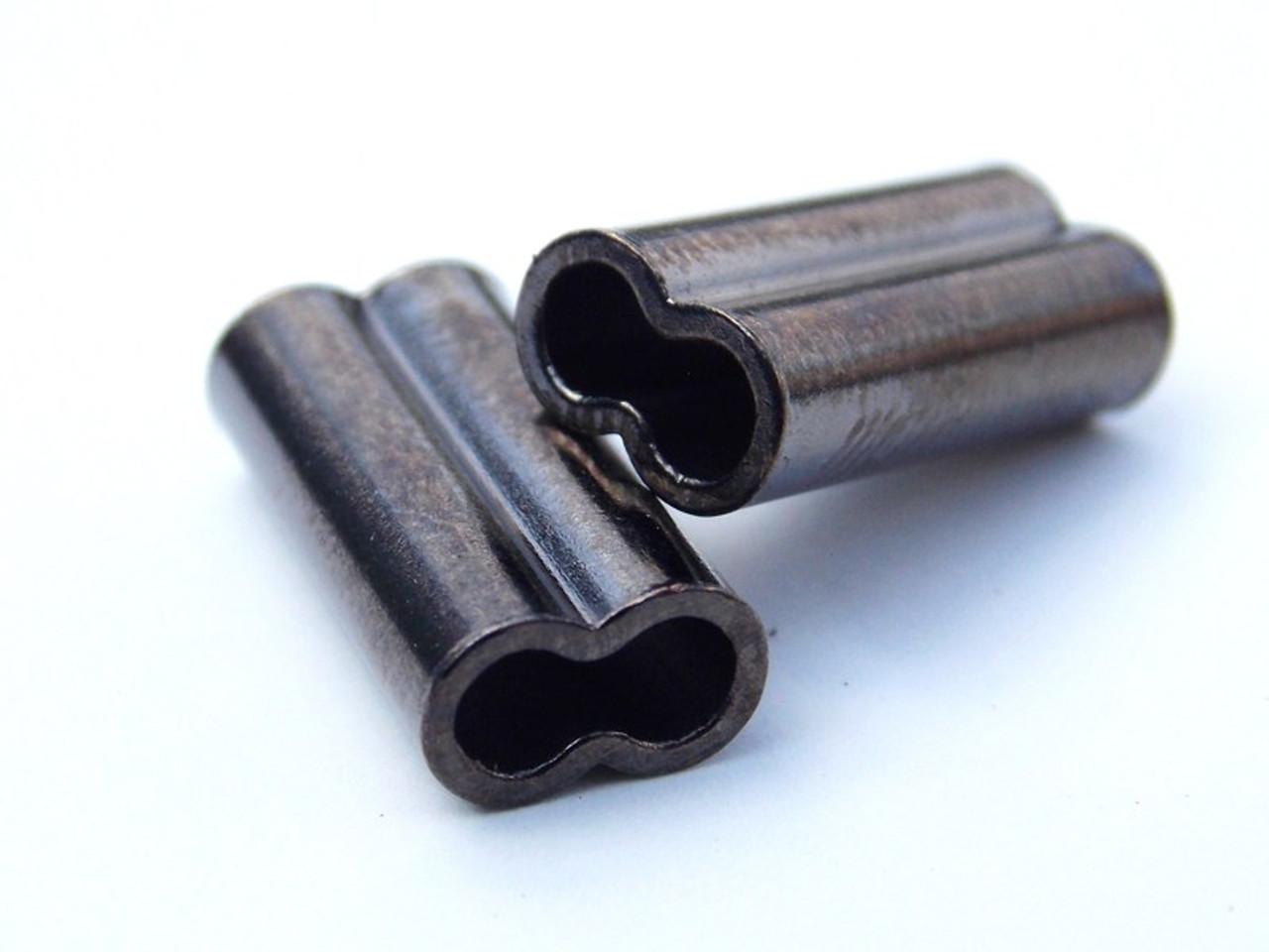 50pcs Double Barrel Copper Crimp Sleeves Cravets de Pêche Durable Multifonction
