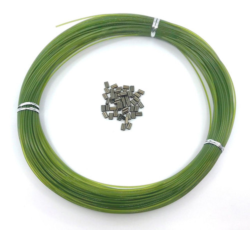 Decoy Monofilament Line Olive Green 100yds 400 LBS 50 pcs 2.2mm x 10mm sleeves