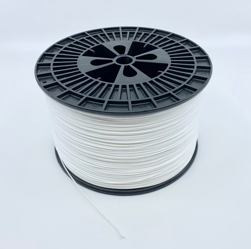 Premium Hollow Core Spectra Braid 16 strand  300 yds White