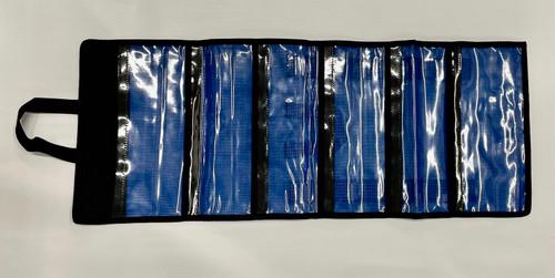 Basic  6 Pocket Roll Up  Lure Bag  Blue
