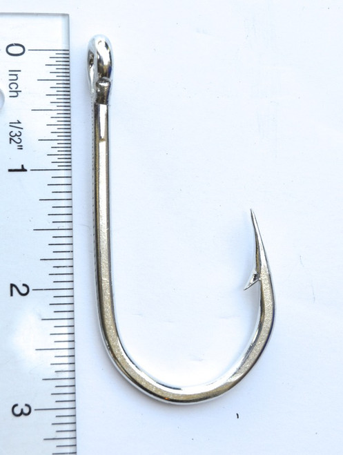 Big Game Welded Eye J Hook 9/0 Tinned 10 Pack