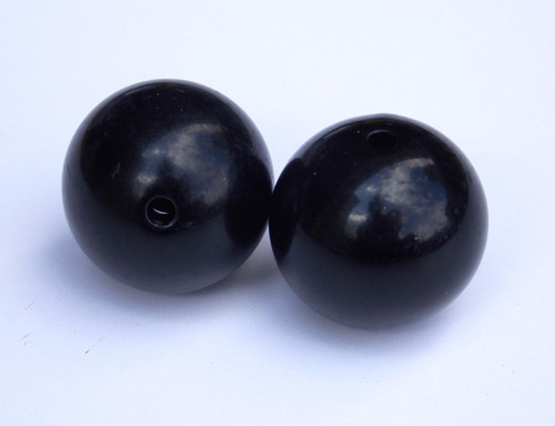 "Outrigger Balls set of 2 -1""  black plastic balls"