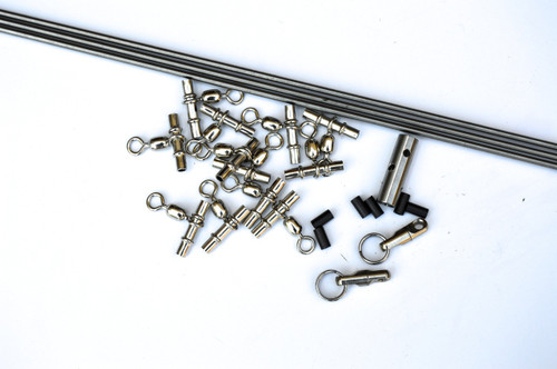 "Titanium Dredge Kit 3 -1/8""   Bars with swivels and crimps"