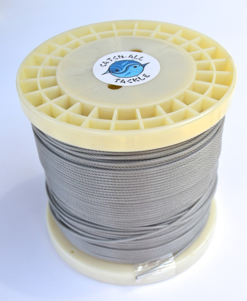 49 Strand Stainless Steel Cable Vinyl Coated 500' spool