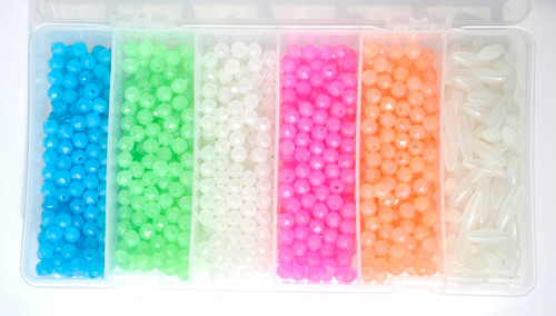 Glow Bead Kit  5 colors - 4sizes available