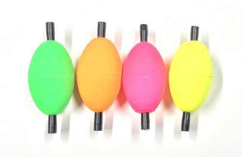 """2"""" Egg  Floats pack of 12 in assorted colors -"""