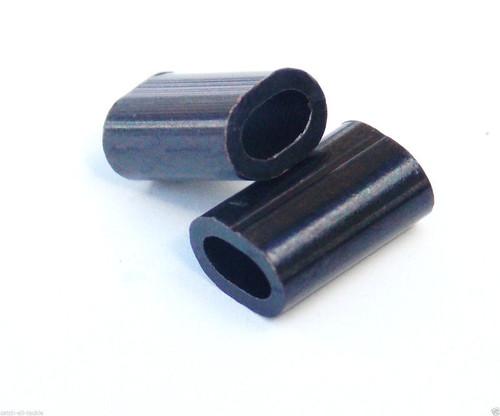 Hi Seas Copper Oval Black Sleeves .8mm-2.0mm 100 count