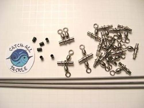 "Titanium 1/8"" Spreader Bar Kit 3 -36"" BARS With 3/0 Sleeve Swivels"