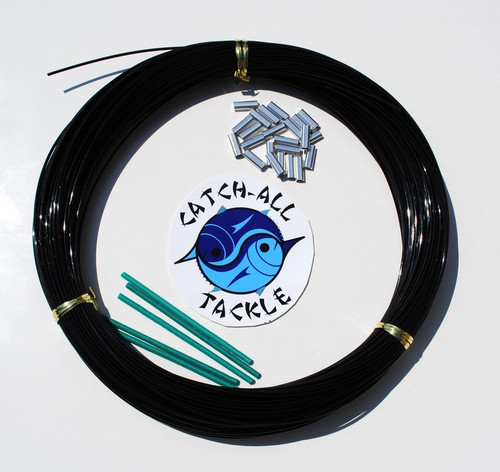 Black Monofilament Leader Kit 100yds w/crimps 1.6mm-2.4mm