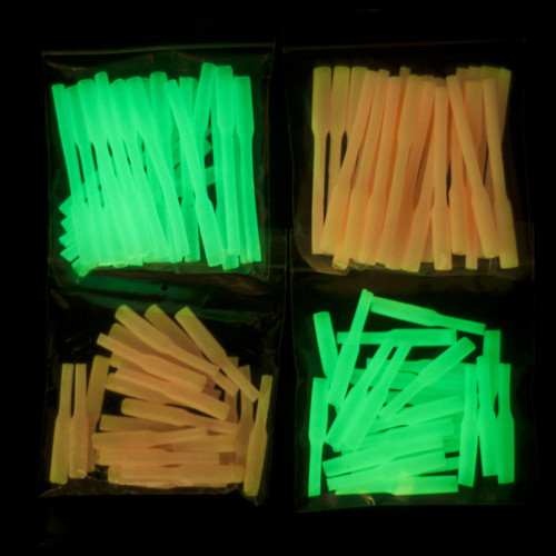 "Glow Light Sleeves crimp protectors  available in 2"" and 3"""