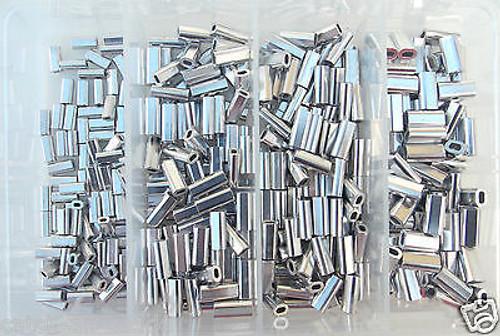 Mini Aluminum Crimp Kit 400 piece  100 each size .8,1.0,1.1,1.3 mm